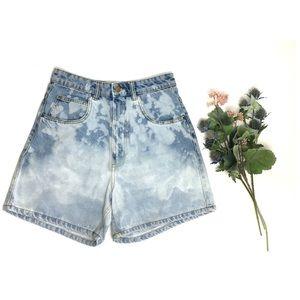 Zara Trafaluc High Waisted Bleached Denim Shorts
